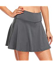 Willit Women's Tennis Skirt High Waisted Golf Athletic Running Skorts Sports Pleated Skirts with Ball Pockets UV Protection