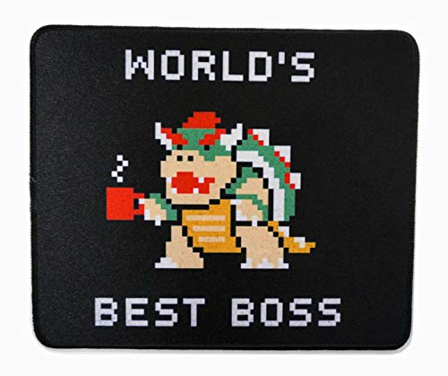 12 x 10 inches Super Mario Best Boss Boswer Bowsett Office Gaming Mouse Pad