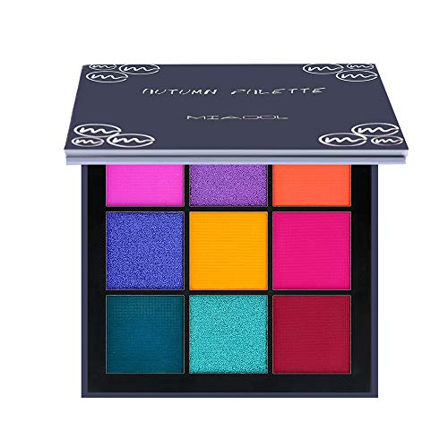 Mini 9 Color Eyeshadow Palette Ultra Matte Shimmer Pearlescent Smoky Makeup