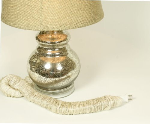 Bone Silk Lamp Cord Cover 9 ft long