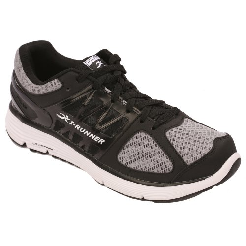 Hylan iRunner Chaplin Mens Therapeutic Athletic Extra Depth Shoe Leather-and-Mesh Lace - Black and White 11.5 Wide (2E) Black/White Lace US Men m1GpJGIf8