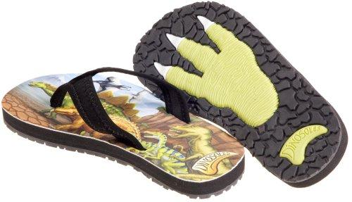 Dinosoles Flipflosaurus - Zapatillas de material sintético niño marrón - Braun (Multicolour)