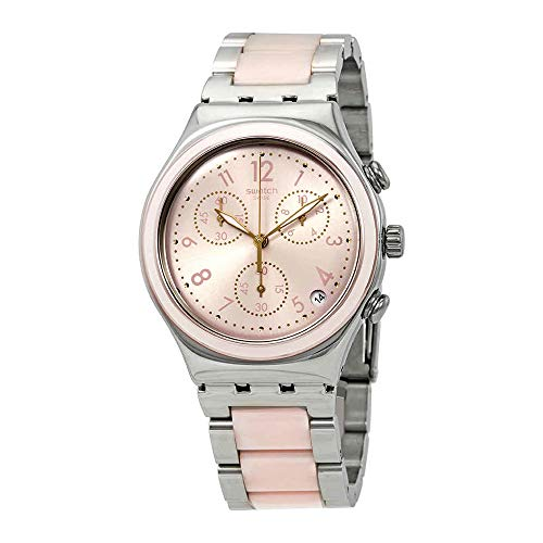 Swatch Irony Dreamnight Rose Pink Dial Stainless Steel Unisex Watch YCS588G