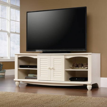 Television Stand for TVs up to 60'', Multiple Finishes (Antiqued White) by Full Tanker