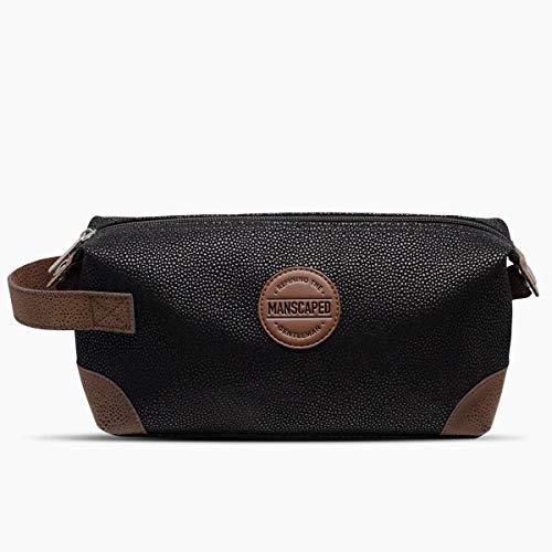 Manscaped The Shed Men's Toiletry Bag, Premium Vegan Leather Dopp Kit, Bathroom Travel Bag, Shaving Kit Case, Manscaping Trimmer Bag