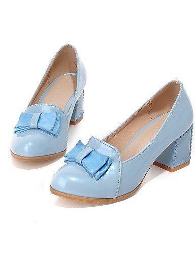 GGX/ Damen-High Heels-Hochzeit / Kleid-Kunstleder-Blockabsatz-Komfort / Rundeschuh-Schwarz / Blau / Lila / Beige blue-us5.5 / eu36 / uk3.5 / cn35