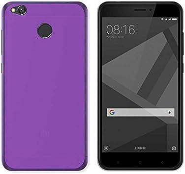 Todobarato24h Funda TPU Lisa Compatible con Xiaomi redmi 4X Morada ...