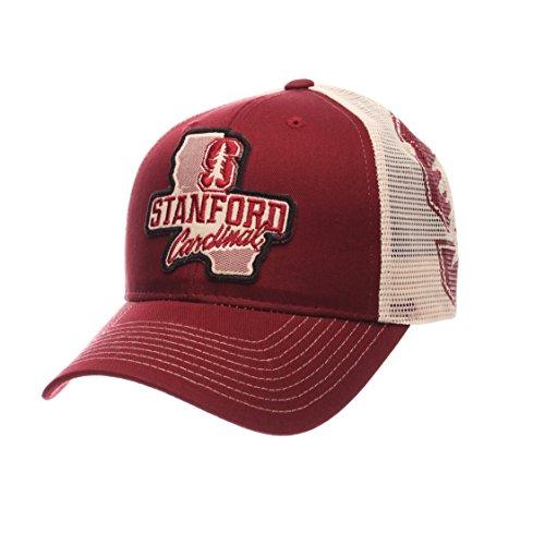 Zephyr Cotton Cap - Zephyr NCAA Stanford Cardinal Men's Interstate Trucker Cap, Adjustable, Cardinal