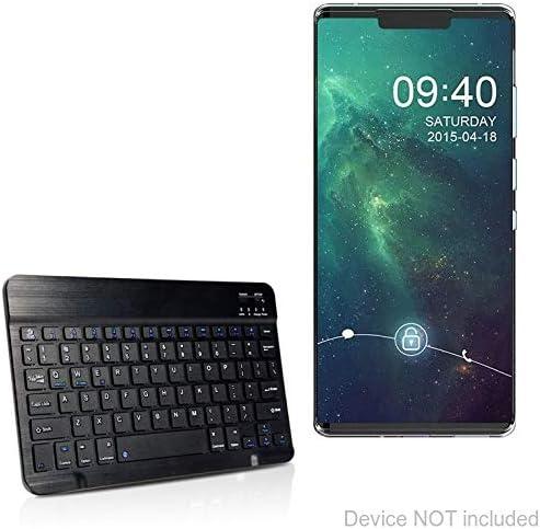 BoxWave SlimKeys Bluetooth Keyboard Jet Black Portable Keyboard with Integrated Commands for Huawei Mate 30 Huawei Mate 30 Keyboard
