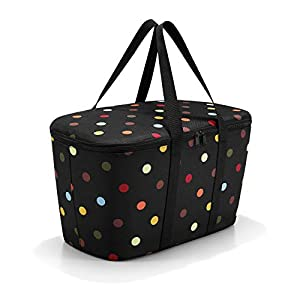reisenthel Coolerbag, Collapsible 20-Liter Insulated Tote with Zipper Closure, Dots