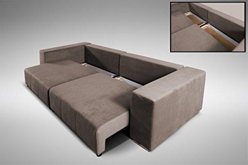 Modernes Schlafsofa Sofa Couch Big Sofa In Braun Schlaffunktion