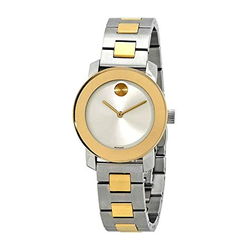 cbdbfd6250a Movado Bold Silver-Tone Sunray Dial Ladies Two-Tone Watch 3600551
