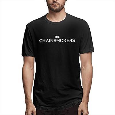 Shebin Sslie Mens The Chainsmokers Fashion T-Shirts Black with Short Sleeve