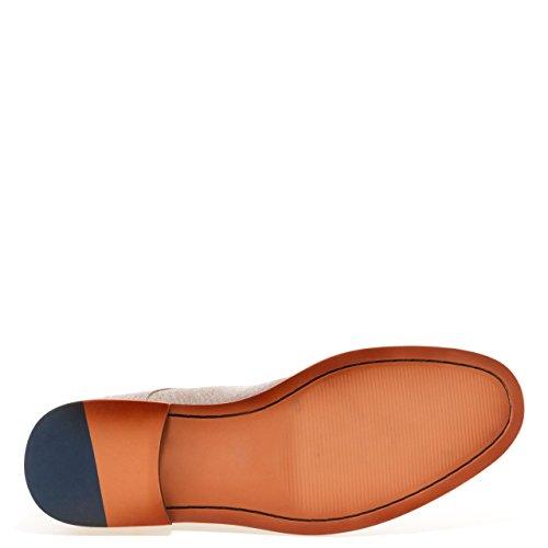 Jump Newyork Pinacle Para Hombre Vestido Con Cordones Superior De Lona Estrecha Con Punta Estrecha Zapato Casual De Color Caqui