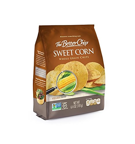 The Better Chip Whole Grain Chips, Sweet Corn, 6.4 Ounce (Pack of 12) by The Better Chip (Image #1)