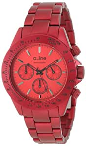a_line Women's 20050-RD Amore Chronograph Red Aluminum Watch
