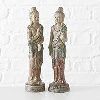 Home Collection Casa Decorazioni Accessori Set di 2 Statue di Buddha in Piedi