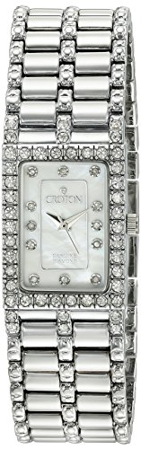 Diamond Ladies Croton Watch (CROTON Women's CN207536SSMP Analog Display Quartz Silver Watch)
