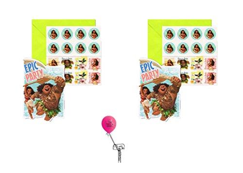 Disney Moana Invitation 2 pack & BONUS The Party Is Here - Moana Ala Store