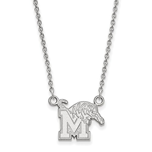 925 Sterling Silver Officially Licensed University College of Memphis Small Pendant with Necklace (18 in x 1.25 mm) by Unknown