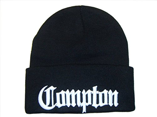 3D Embroidered Compton Eazy E Beanie Cap Hat (One SIze, (Compton Hat Eazy E)