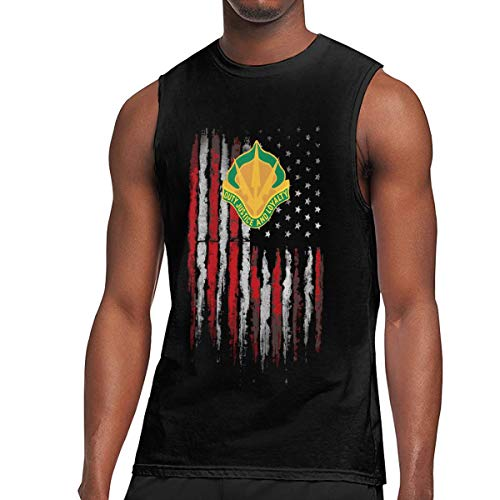 Army 15th Military Police Brigade Unit Crest Mens Tank Top Jersey Training Tank Black