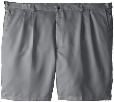 Haggar Men's Big-Tall Cool 18 Gabardine Hidden Expandable Waist Pleat Short