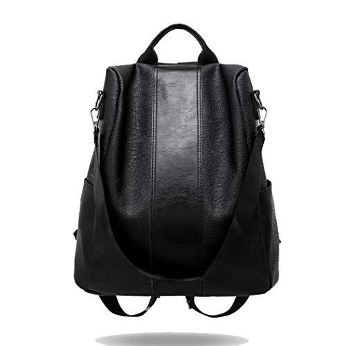 Kaimu Women Fashion Large Capacity Leather Backpack Shoulder Bag Casual Daypacks