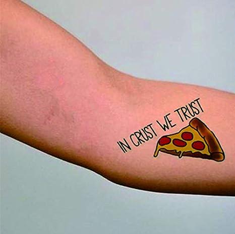 Fiesta Tatuajes astronauta Alien Pizza Tatuajes adhesivos para ...