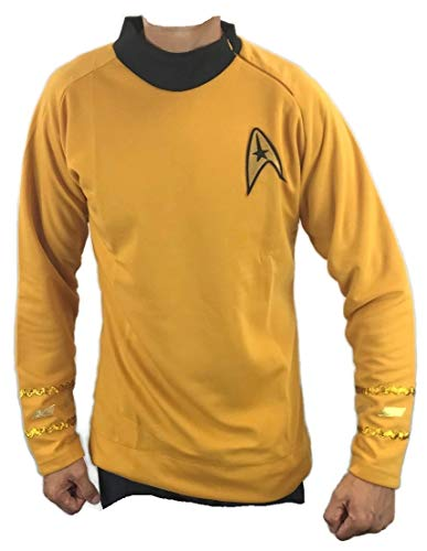 costumebase Star Trek Captain Kirk Spock Classic Shirt Costume Uniform Tos (L, Gold)