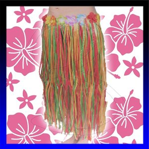 De rafia rock rock de carnaval de Hawai Flores traje de falda ...