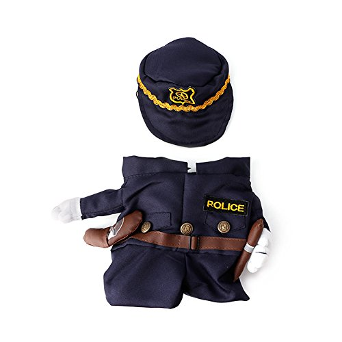 Delight eShop Funny Pet Costume Dog Cat Costume Clothes Dress Apparel Doctor Policeman Cowboy (M) (Doctor Dog Costume)