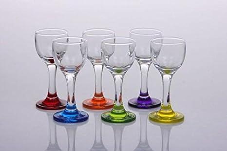 Cristal de Bohemia Uni – Juego de 6 vasos Digestifs balón pie ...