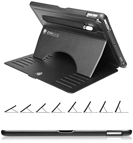 ZUGU CASE - 2019 iPad Air 3 10.5/2017 iPad Pro 10.5 inch Case Prodigy X - Very Protective But Thin + Convenient Magnetic Stand + Sleep/Wake Cover (Black) (Best Leather Ipad 3 Case)