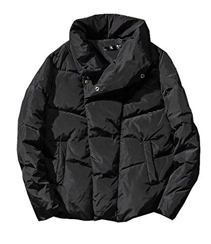 [해외]ARRIVE GUIDE 남성용 솔리드 경량 스탠드 칼라 루즈 퍼퍼 다운 자켓/ARRIVE GUIDE Men`s Solid Lightweight Stand Collar Loose Puffer Down Jacket