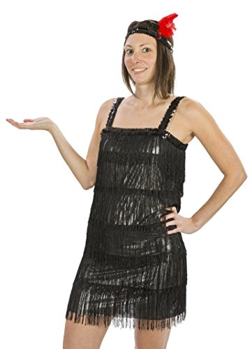 Jazz Age Costume Ideas (Womens Flashy Flapper Costume Size X Large (14-16))