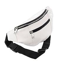 Flada Women Men Hologram PVC Waist Bag Laser Fanny Pack Bumbag Hiking Waist