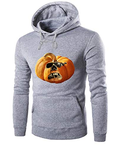 SportsX Mens Loose-Fit Halloween Costume Jersey Pullover with Hood Light Grey -