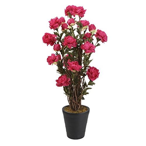 """Breeze Point Large 51"""" Lifelike Potted Artificial Peony V..."""