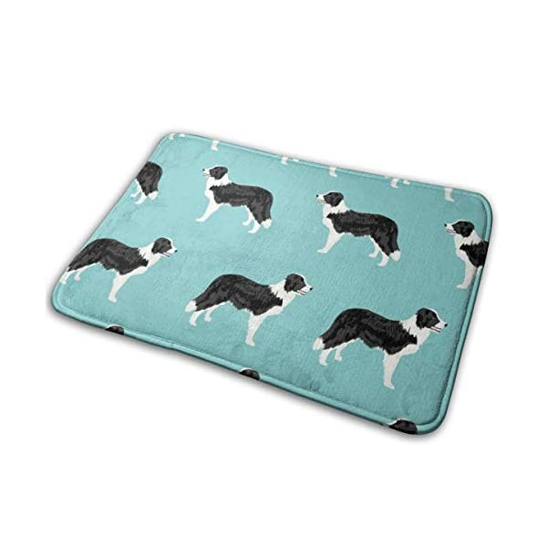 "Pillow Bags Cute Border Collies Designs Best Dog Fabrics Cute Dog Designs Border Collies Fabrics Floor Bath Entrance Rug Mat Absorbent Indoor Bathroom Decor Doormats Rubber Non Slip 15.7"" X 23.5"" 1"