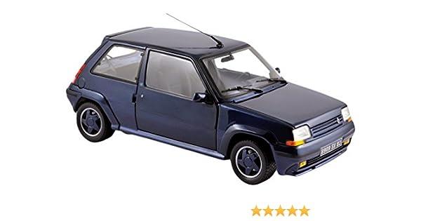 Norev 185205 - Renault 5 GT Turbo - ALANO oído 1989 - Escala 1/18 - azul Metal: Norev: Amazon.es: Juguetes y juegos