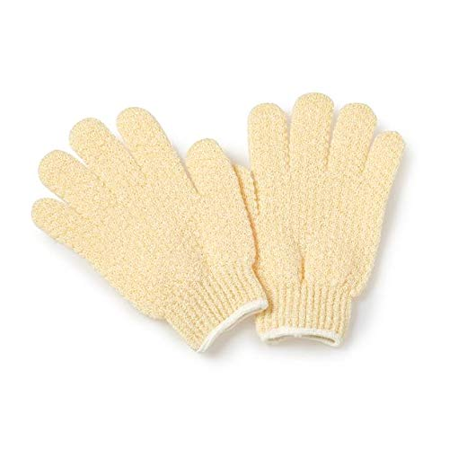 Earth Therapeutics Exfoliating Hydro Gloves, Natural (Vita Scrub Bath Exfoliating)