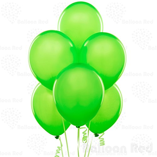 12 Inch Latex Balloons (Premium Helium Quality), Pack of 100, Lime
