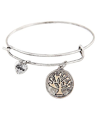 Young & Forever Women's Navratri Diwali Special Tree Of Life Charm Bracelet Silver Toned by Young & Forever