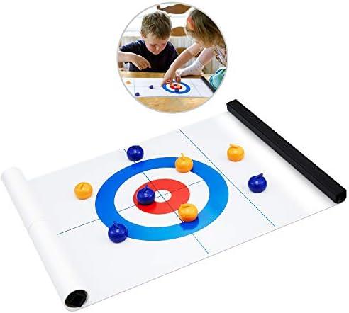 Kuyou Juego de Mesa Curling, Compact Junta de Curling Juego ...