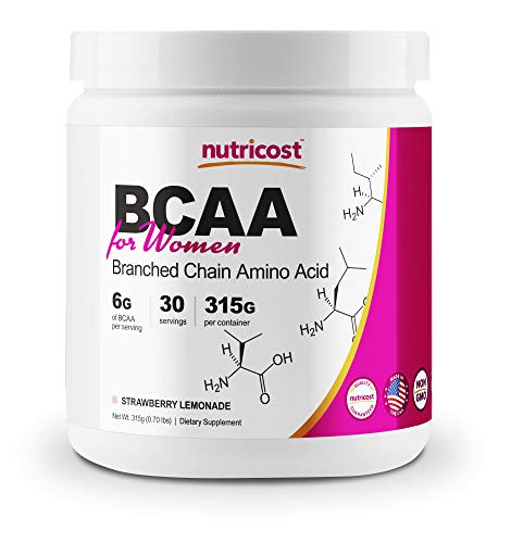 Nutricost BCAA for Women (Strawberry Lemonade, 30 Servings) - Formulated Specifically for Women - Non-GMO and Gluten-Free
