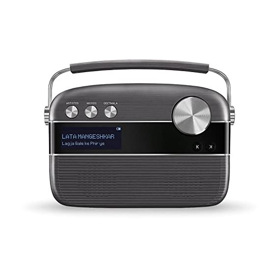 Saregama Carvaan Hindi - Portable Music Player with 5000 Preloaded Songs, FM/BT/AUX (Brown)