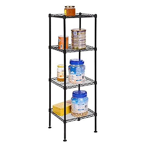Eshion Bathroom 4 Tier Heavy Duty Multi-Functional Storage Organization Rack Shelving Unit for Kitchen Living Room (US STOCK) (4-Tier - 3 Shelf Stacking Bookcase