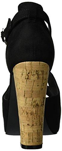 Bianco Cross Sandal Jfm17 - Sandalias Mujer negro
