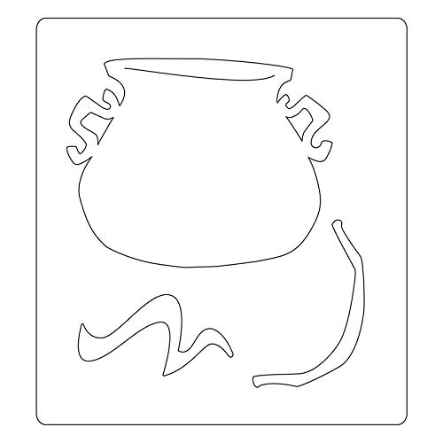 us:one Size Multicolor Sizzix 664214 Cauldron by Tim Holtz Dies
